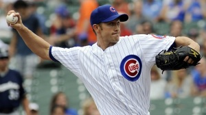 Scott Baker pitched 15 innings in three starts for the Cubs in 2013, after missing all of 2012 and most of 2013 following elbow surgery.